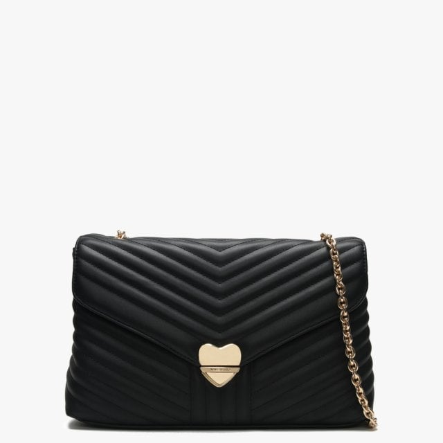 de6f48783e7 Valentino By Mario Large Rapunzel Black Quilted Shoulder Bag