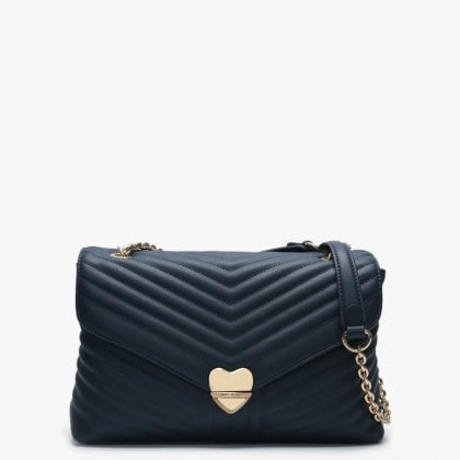 49221809ec Large Rapunzel Blue Quilted Shoulder Bag. New In. Valentino By Mario ...