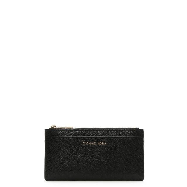 884ad37166a5 Michael Kors Large Slim Black Leather Card Case
