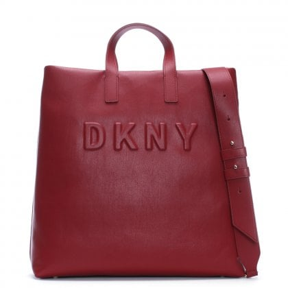 Large Tilly Scarlet Leather Tote Bag