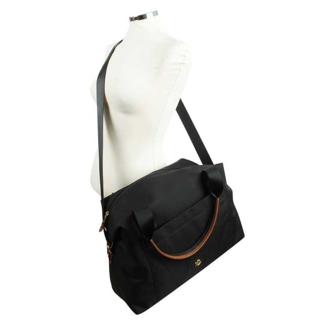 f40f9a172b Lauren by Ralph Lauren Bainbridge Black Large Nylon Sports Duffel Bag
