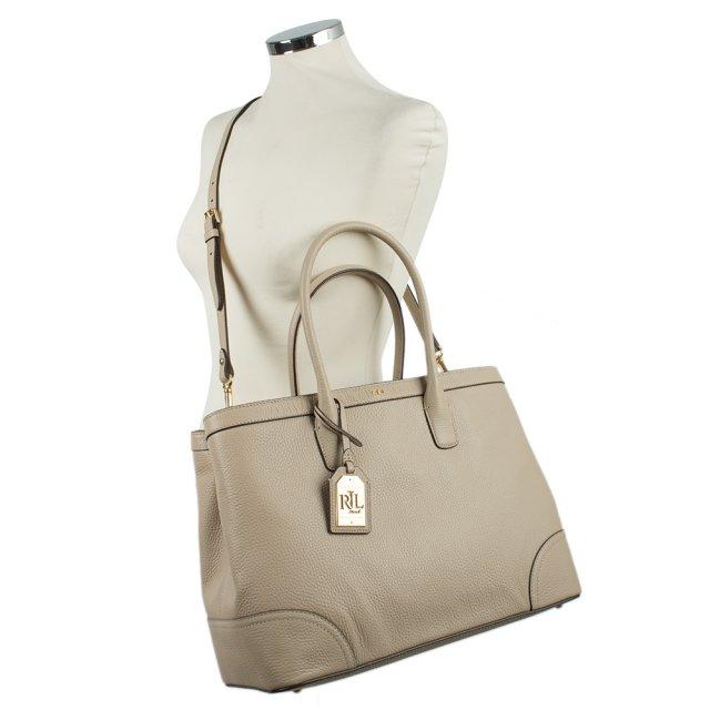 Ralph Lauren Fairfield City Tote Beige Leather Bag b248b99e991a2