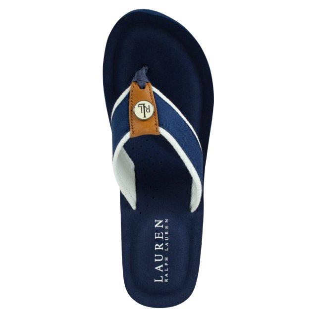 96a44b6bbca1 Lauren By Ralph Lauren Navy Jane Toe Wedge Flip Flop