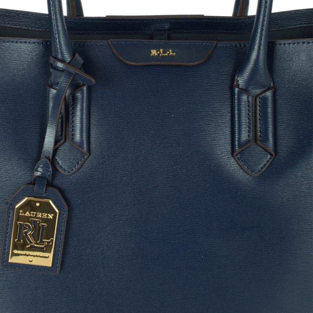 a97074d9f17f Lauren Ralph Lauren Navy Leather Tate City Tote Bag