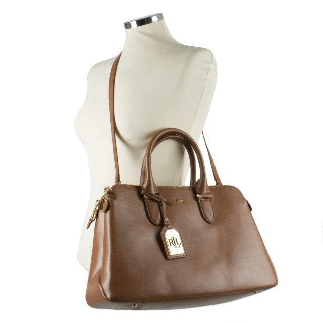 melko mukava kiva halpa Alin hinta Newbury Double Zip Tan Leather Dome Tote Bag