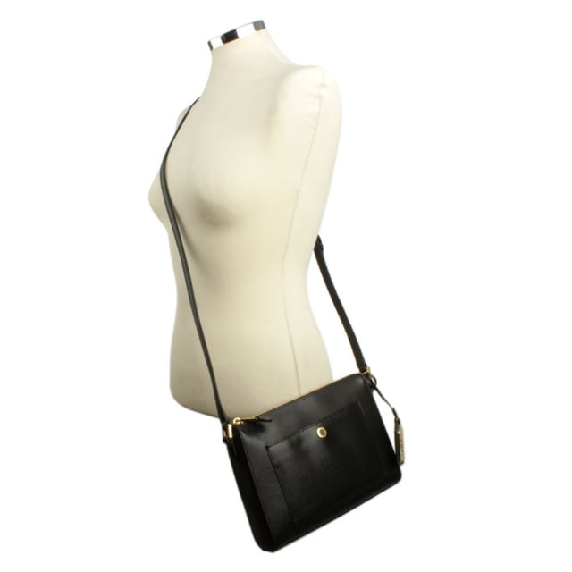50d30c1123a Lauren by Ralph Lauren Newbury Pocket Back Leather Cross-Body Bag