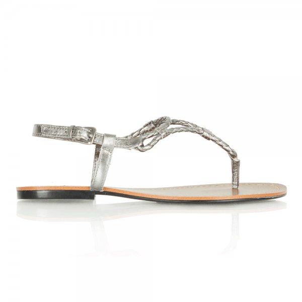 6f4583db0 Lauren by Ralph Lauren Silver Alexa Women s Flat Toe Post Sandal