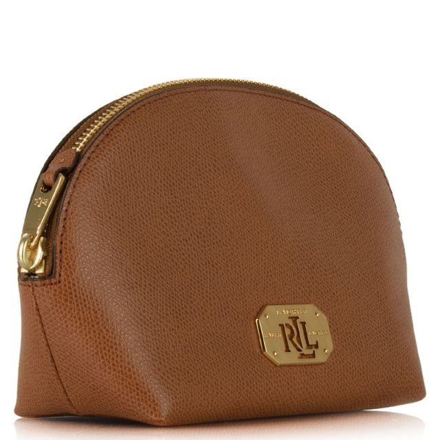 8a1aca2312 Lauren by Ralph Lauren Whitby Shell Tan Leather Cosmetic Case