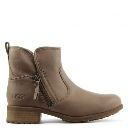 Lavelle Camel Leather Zipper Ankle Boot
