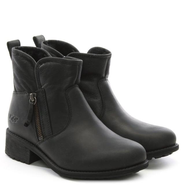 a6f6069d3d5 Lavelle II Black Leather Zipper Ankle Boots