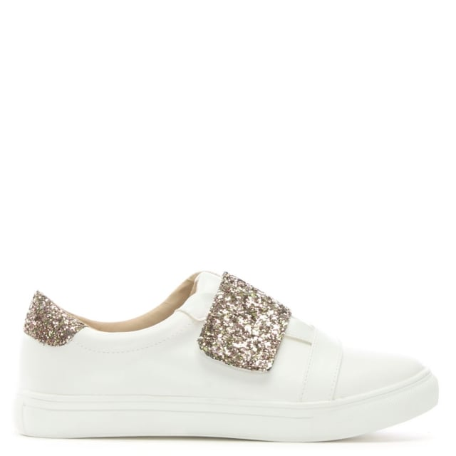 DF By Daniel Laytham Gold Faux Leather & Glitter Sneakers