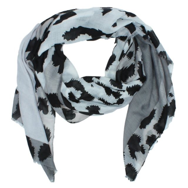 Leopard Grey Light Weight Scarf