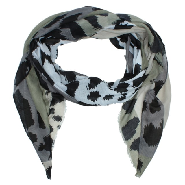 Leopard Khaki Light Weight Scarf