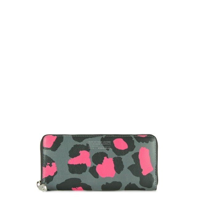 Leopard Print Divine Zip Around Purse