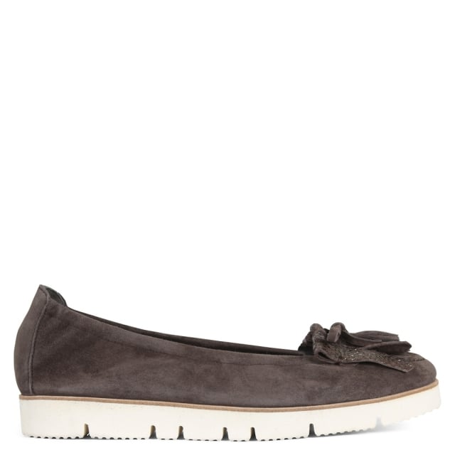 Lessing Brown Suede Fringed Loafers