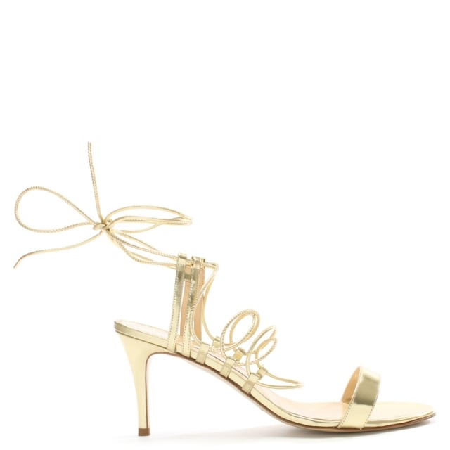 Letizia Gold Leather Stappy Sandal
