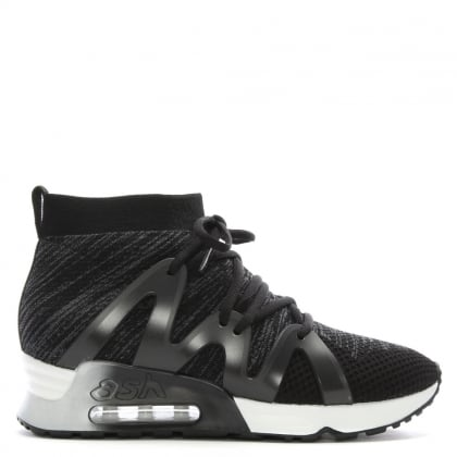 Liana Black Sock Lace Up Trainers