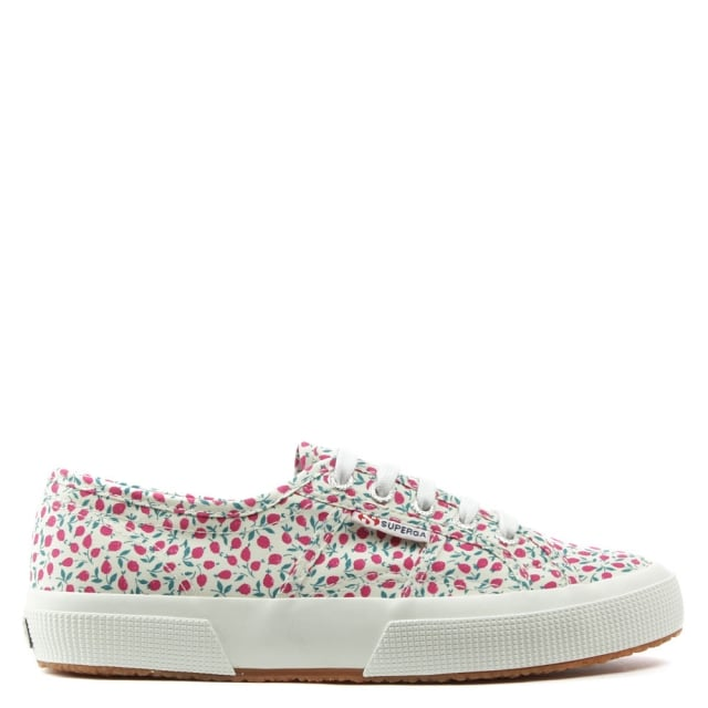 Liberty 2750 Ed Fuxia Floral Lace Up Trainer