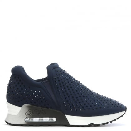 Lifting Navy Neoprene & Gemstone Trainers