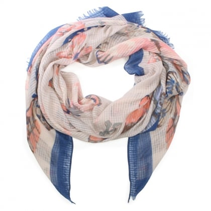 Light Weight Blue Butterfly Print Scarf