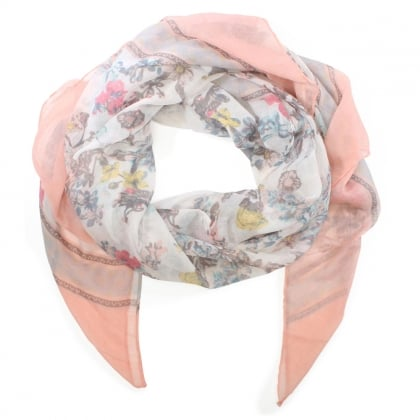 Light Weight Pink Floral Scarf