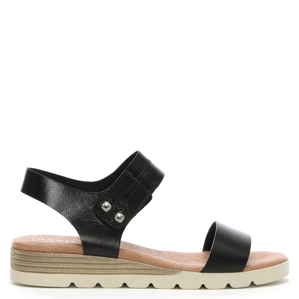 Wedge Likely Sandals Leather Low Black UVSGzMqp