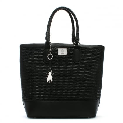 Lile Black Woven Shopper Bag