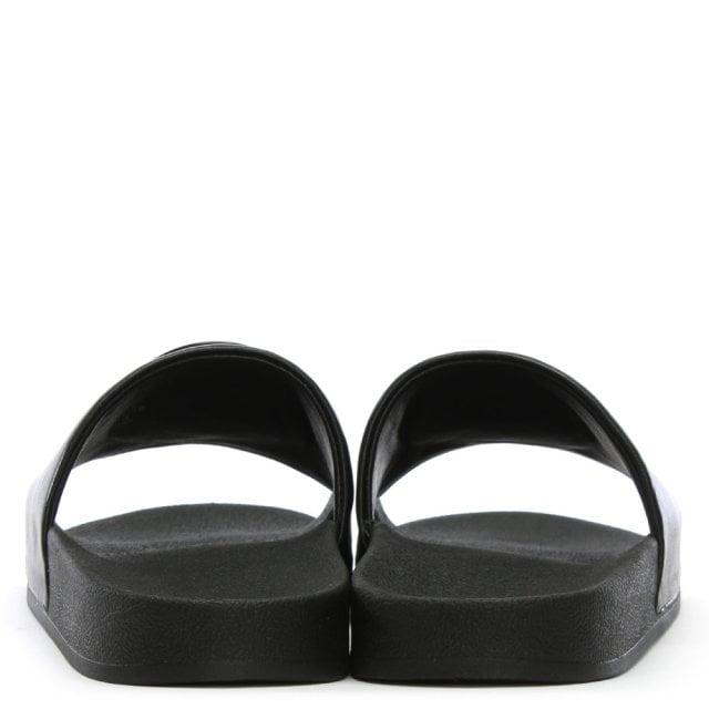 48b5bf8bd Tory Burch Lina Black Leather Logo Sliders