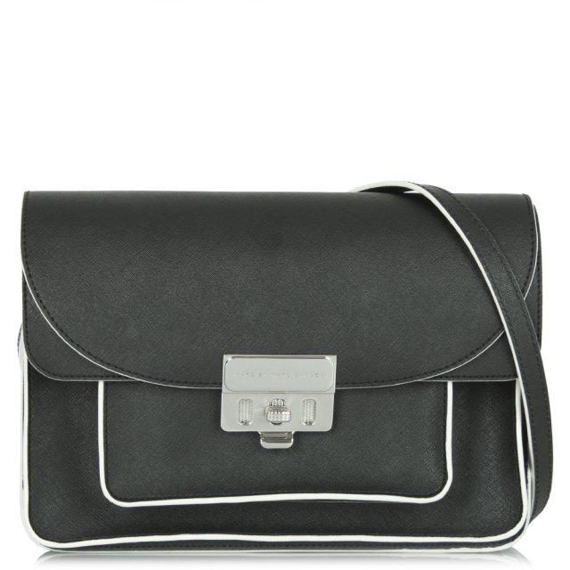 46ce3ea4f Marc by Marc Jacobs Lip Lock Black Leather Messenger Bag