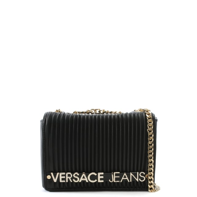 6c6c4f1f9bf3 Versace Jeans Logo Black Quilted Shoulder Bag