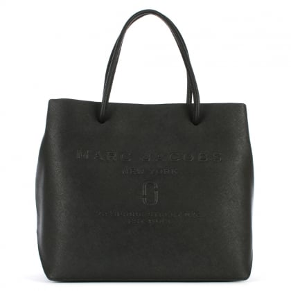 Logo Black Saffiano Leather East West Shopper Bag