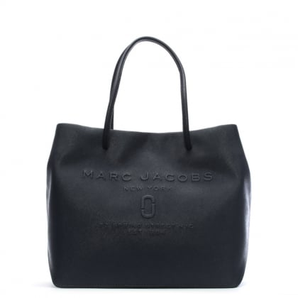 Logo Midnight Blue Saffiano Leather East West Shopper Bag