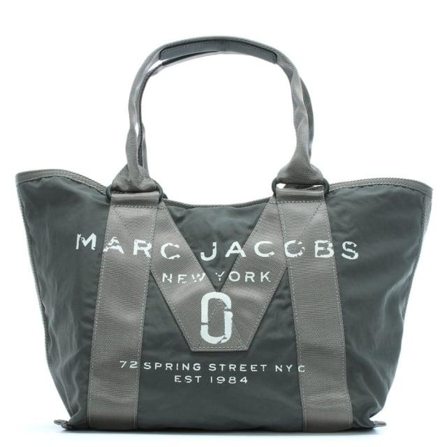 logo-printed-graphite-nylon-tote-bag