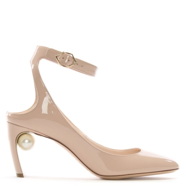 Lola 70 Pearl Nude Patent Leather Heeled Pumps