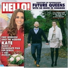 Hello Magazine- Helen Milligan wearing Alanya suede court shoes