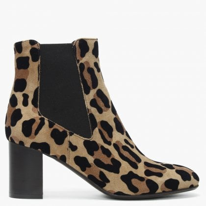 eedc543b624 Lorrainer Leopard Suede Chelsea Boots. Free Standard UK Delivery