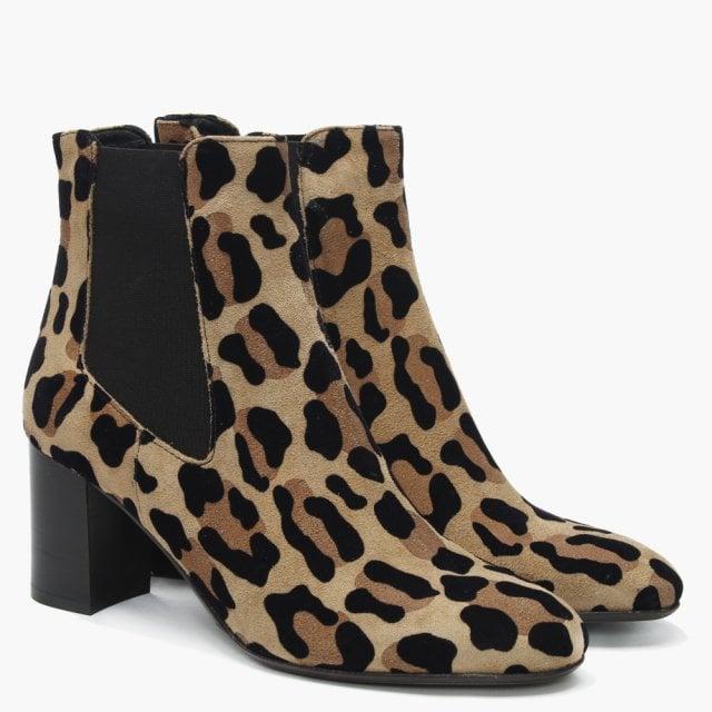 e9fef1cfbfa00 Daniel Lorrainer Leopard Suede Chelsea Boots