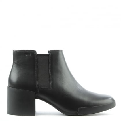Lotta Black Leather Chelsea Boot