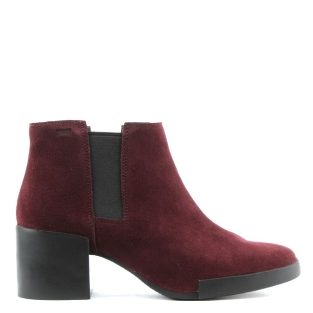 Lotta Burgundy Suede Chelsea Boot