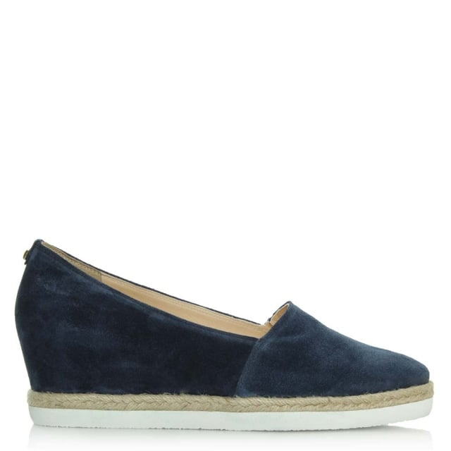 Low Wedge Navy Suede Low Espadrille