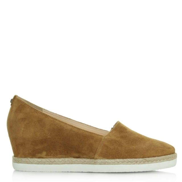 Low Wedge Tan Suede Low Espadrille