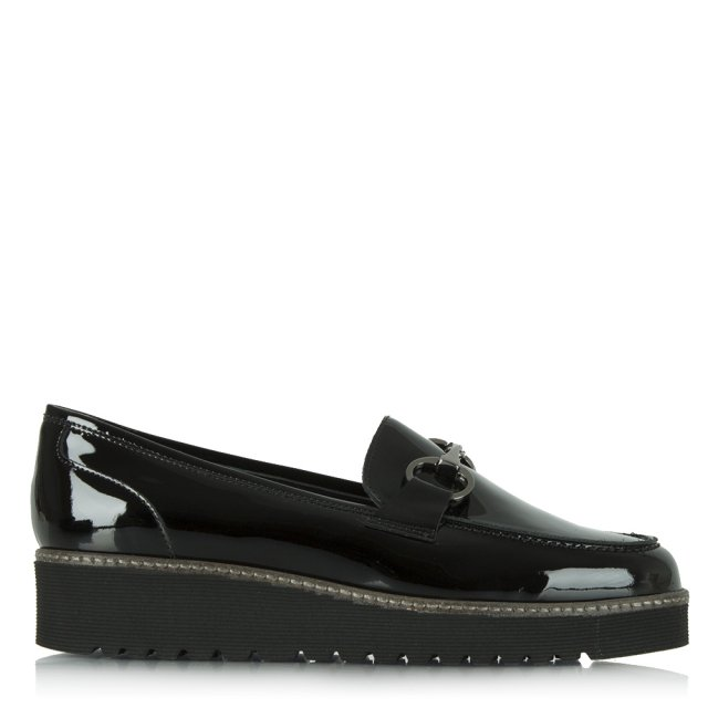 Luca 9 Black Patent Chunky Loafer