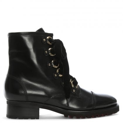 Comoros Black Leather Biker Boots