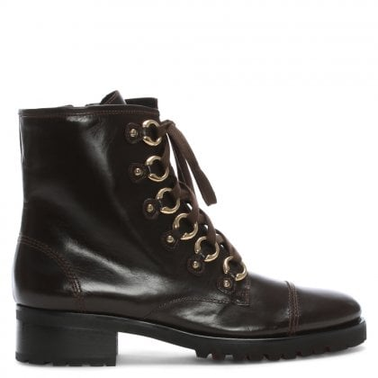 Comoros Brown Leather Biker Boots