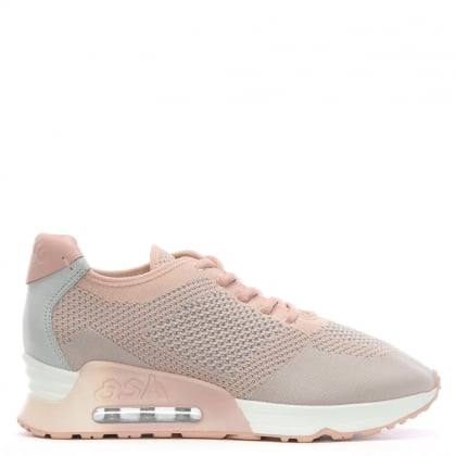 Lucky Pink Leather & Woven Trainers