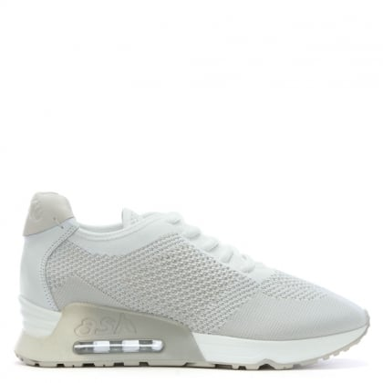 Lucky White Leather & Woven Trainers