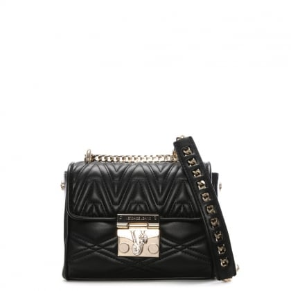 Lucy Black Quilted Cross-Body Bag