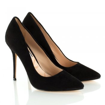 Lucy Choi Black THERESE Women's Stiletto Court Shoe