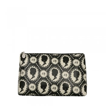 Lulu Guinness Multi Cameo Womens Cosmetic Bag