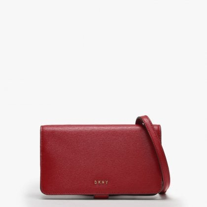 cd286d04f10ca0 Lulu Red & Black Textured Leather Carryall Cross-Body Wallet